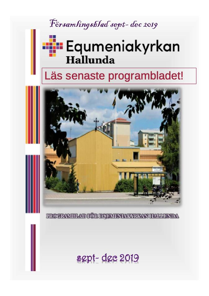 Programblad september - december 2019 Equmeniakyrkan Hallunda